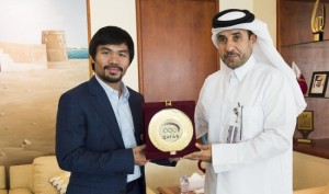 Manny Pacquiao welcomed to Doha by QOC (1)[3]